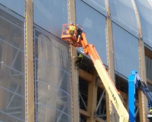 40 facade screens of Poly-Ned for RERF Leeds