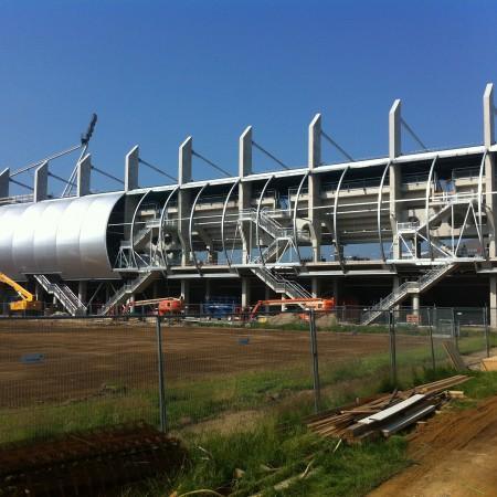 Facade foodball stadium