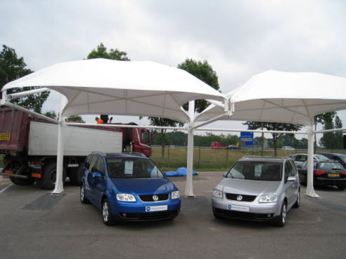 Overkapping Voor Auto : Poly tent pon used car center barneveld polyned en